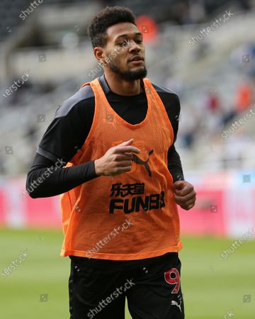 Newcastle United's Joelinton warms up prior to the Premier League match between Newcastle United and Sheffield United at St. James's Park, Newcastle on Wednesday 19th May 2021.