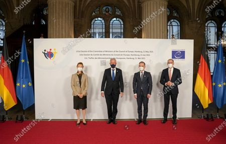 Editorial image of 131st meeting of the Committee of Ministers of Council of Europe in Hamburg, Deutschland - 21 May 2021