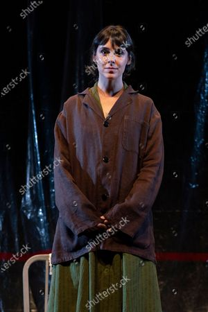 Stock Photo of Belen Cuesta during the performance of the play 'The Pillow Man', by the Anglo-Irish playwright Martin McDonagh, winner of the Golden Globe for Best Screenplay in 2017, at the Canal theaters in Madrid. May 20, 2021 Spain