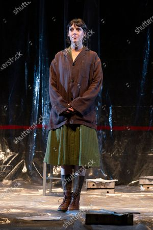 Belen Cuesta during the performance of the play 'The Pillow Man', by the Anglo-Irish playwright Martin McDonagh, winner of the Golden Globe for Best Screenplay in 2017, at the Canal theaters in Madrid. May 20, 2021 Spain