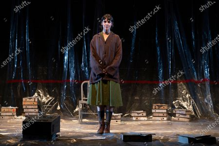 Stock Image of Belen Cuesta during the performance of the play 'The Pillow Man', by the Anglo-Irish playwright Martin McDonagh, winner of the Golden Globe for Best Screenplay in 2017, at the Canal theaters in Madrid. May 20, 2021 Spain