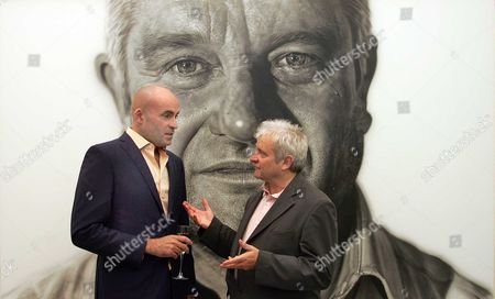 A Portrait Of Nobel Prize Winning Scientist Sir Paul Nurse By Artist Jason Brooks Is Unveiled At The National Portrait Gallery Today. Sir Paul Nurse (r) With Artist Jason Brooks (l) Picture By Glenn Copus