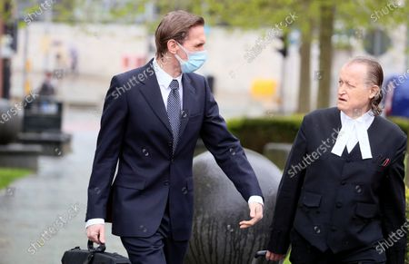 Editorial image of Dr Christian Jessen at Belfast High Court, Belfast, Northern Ireland - 21 May 2021