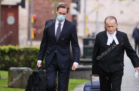 Stock Image of TV presenter and Dr Christian Jessen pictured today at Belfast High Court. The judge ordered his to travel to Belfast for the case with First Minister Arlene Foster.