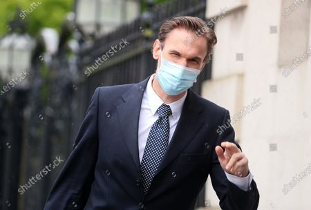 TV presenter and Dr Christian Jessen pictured today at Belfast High Court. The judge ordered his to travel to Belfast for the case with First Minister Arlene Foster.