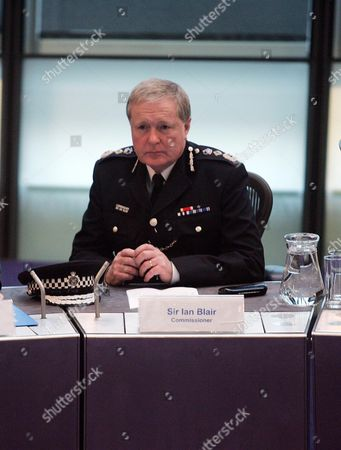 Metropolitan Police Commissioner Sir Ian Blair Who Is Leaving His Post Attends His Last Meeting Of The Mpa At City Hall Today Picture By Glenn Copus