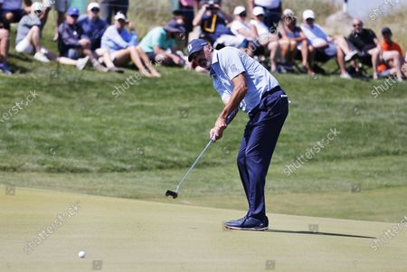 Matt Kuchar of the US putts on the fifteenth hole during the second round of the 2021 PGA Championship golf tournament on the Ocean Course at Kiawah Island, South Carolina, USA, 21 May 2021. The PGA Championship runs from 20 May through 23 May.