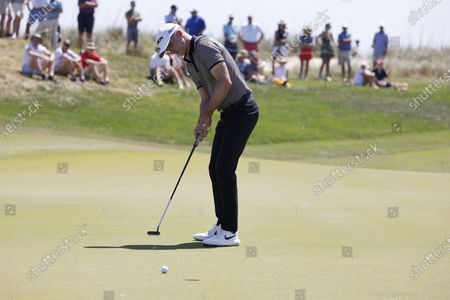 Martin Laird of Scotland putts on the fifteenth hole during the second round of the 2021 PGA Championship golf tournament on the Ocean Course at Kiawah Island, South Carolina, USA, 21 May 2021. The PGA Championship runs from 20 May through 23 May.