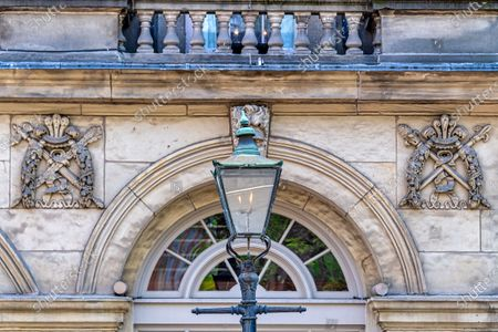 Architecture detail of the Saint Lawrence Hall in Old Town, Toronto, Canada. The Renaissance Revival style building was designed by William Thomas. It is a National Historic Site of Canada