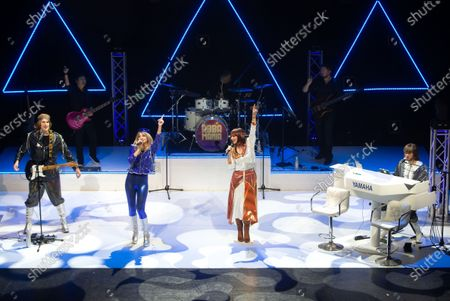 On the eve of the Eurovision Song contest and 47 years after Abba won the competition with 'Waterloo', Abba Mania returns to the West End for the first time in 19 years. The show will run from May 21st till 6th of June.The cast is played by Rhiannon Porter as Agnetha FSltskog, JoJo Desmond as Anni-Frid Lyngstad, Edward Handoll as  Bjsrn Ulvaeus  and Musical Director Loucas Hajiantoni as Benny Andersson.