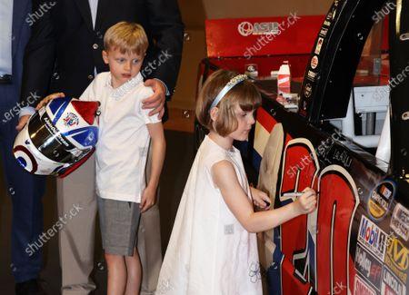 Stock Picture of Prince Jacques of Monaco, Princess Gabriella of Monaco