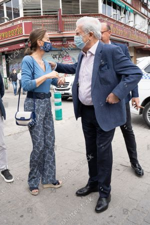 Isabel Preysler and Mario Vargas Llosa attend the San Isidro bullfight in the VistaAlegre square.
