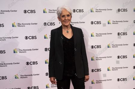 Kennedy Center honoree singer-songwriter and activist Joan Baez attends the 43nd Annual Kennedy Center Honors at The Kennedy Center, in Washington