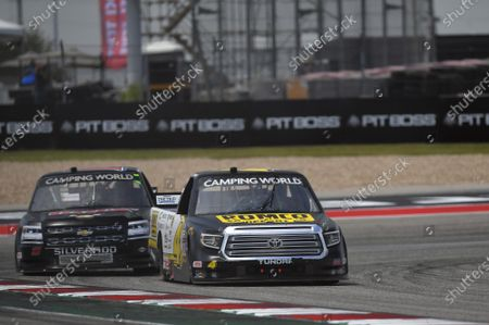 CIRCUIT OF THE AMERICAS, UNITED STATES OF AMERICA - MAY 21: #4: John Hunter Nemechek, Kyle Busch Motorsports, Toyota Tundra ROMCO, #11: Camden Murphy, Spencer Davis, Toyota Tundra Inox Supreme Lubricants at Circuit of the Americas on Friday May 21, 2021 in Austin, United States of America. (Photo by LAT Images)