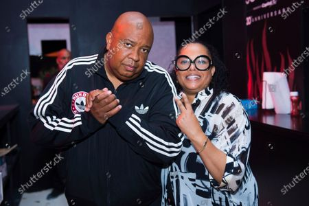 Joseph Simmons, also known as Rev Run, and Justin Simmons attends the SOBEWFF® Burger Bash, in Miami Beach, Fla
