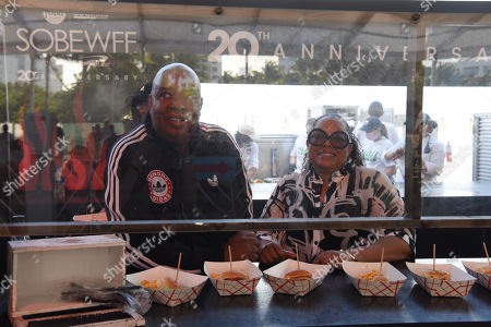 Joseph Simmons with wife Justine Simmons at Burger Bash at the 20th Food Network South Beach Wine & Food Festival in Miami Beach, Florida, USA - 21 May 2021