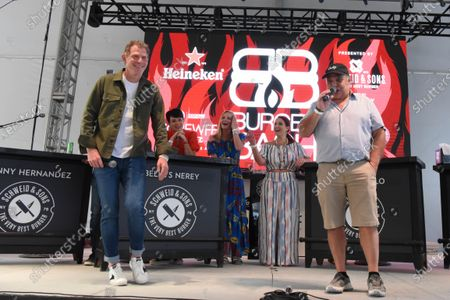 Bobby Flay, left and Lee Shrager at Burger Bash at the 20th Food Network South Beach Wine & Food Festival in Miami Beach, Florida, USA - 21 May 2021