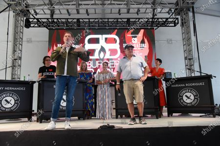 Chef Bobby Flay, left, and Ian Shrager attend Burger Bash at the 20th South Beach Wine and Food Festival in Miami Beach, Florida, USA - 21 May 2021