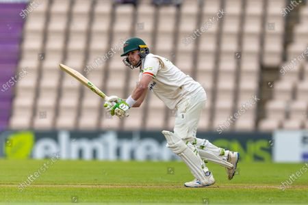 Sam Evans batting during the final day of the LV= Insurance County Championship match between Hampshire County Cricket Club and Leicestershire County Cricket Club at the Ageas Bowl, Southampton