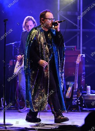 Stock Picture of Paul Janeway of St. Paul and The Broken Bones performs at the Old School Square Pavilion, Delray Beach, Florida, USA - 21 May 2021