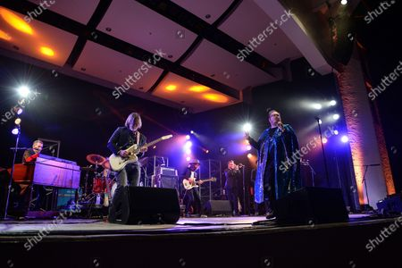Paul Janeway, Browan Lollar, Jesse Phillips, Kevin Leon, Al Gamble, Allen Branstetter, Amari Ansari and Chad Fisher of St. Paul and The Broken Bones perform at the Old School Square Pavilion, Delray Beach, Florida, USA - 21 May 2021