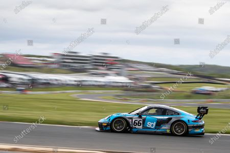Nick Jones & Scott Malvern, Porsche 911 GT3 R, Team Parker Racing through Clearways during Round 1 Practice and Qualifying of the British GT Championship at Brands Hatch Circuit on 22nd May 2021