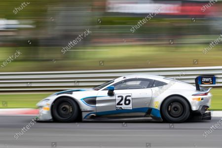 Michael Brown & Matt Manderson, Aston Martin Vantage AMR GT3, Ultimate Speed during Round 1 Practice and Qualifying of the British GT Championship at Brands Hatch Circuit on 22nd May 2021
