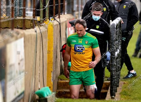 Donegal vs Monaghan. Donegal's Michael Murphy at half time