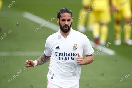 """Francisco """"Isco"""" Alarcon of Real Madrid in action during the spanish league, La Liga, football match played between Real Madrid and Villarreal CF at Alfredo Di Stefano stadium on may 22, 2021, in Valdebebas, Madrid, Spain."""