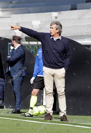 Real Betis' head coach Manuel Pellegrini reacts during the Spanish LaLiga Primera Division soccer match between Celta Vigo and Betis in Vigo, Spain, 22 May 2021.