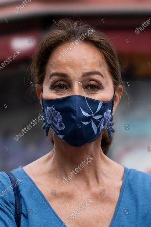 Isabel Preysler attend the San Isidro bullfight in the Vista Alegre square in Madrid.