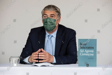Former Prime Minister Jose Socrates, accused of corruption, presents his book So Agora Comecou, at the Hotel Cristal Porto, on May 22, 2021, in Porto, Portugal.