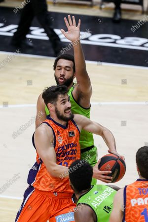 Nikola Kalinic of Valencia Basket in action during the Endesa League match between Valencia Basket and Urbas Fuenlabrada at the Fuente de Sant Luis pavillion, La Fontenta. May l22, 2021. Valencia, Spain
