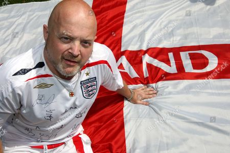 Steve Wright with the St George's Cross