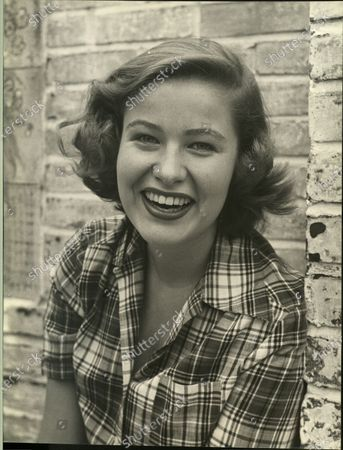 Actress Nancy Olson smiling in the United States, 1950.