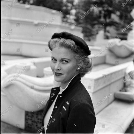 American actress and model Joan Caulfield, United States, November 1953.