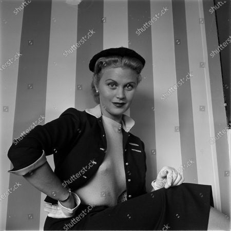 American actress Joan Caulfield in the United States, November 1953.