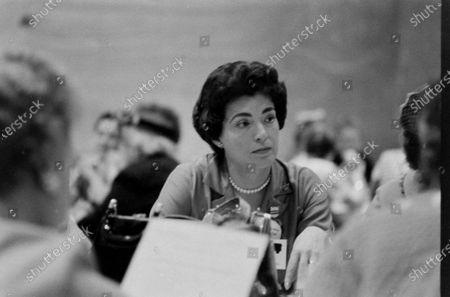 American journalist Geri M. Joseph, May 1960.