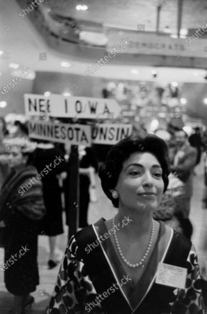 American journalist and political figure Geri M. Joseph, May 1960.