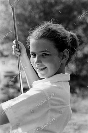Stock Photo of Portrait of Actress Joan Caulfield, United States, 1954.