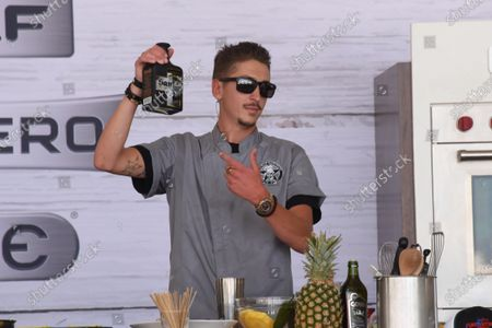 Hunter Fieri, son of Chef Guy Fieri attends the Food Demonstration event during the Grand Tasting at the South Beach Wine and Food Festival in Miami Beach, Florida, USA - 22 May 2021