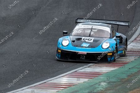 Nick Jones & Scott Malvern, Porsche 911 GT3 R, Team Parker Racing out of Paddock Hill Bend during Round 1 of the British GT Championship at Brands Hatch Circuit on 23rd May 2021