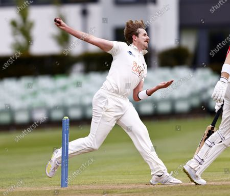 Matt Quinn bowls for Kent during Kent CCC vs Glamorgan CCC, LV Insurance County Championship Group 3 Cricket at The Spitfire Ground on 23rd May 2021