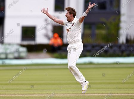 Matt Quinn of Kent appeals for an LBW during Kent CCC vs Glamorgan CCC, LV Insurance County Championship Group 3 Cricket at The Spitfire Ground on 23rd May 2021