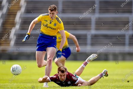 Galway vs Roscommon. Galway's Paul Conroy with Eddie Nolan of Roscommon