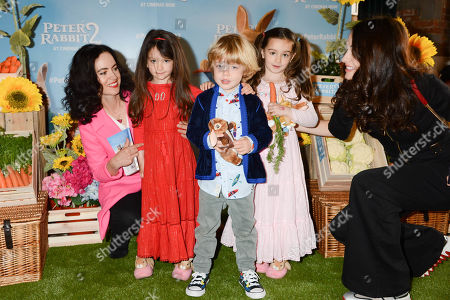 Sally Wood, Alice Rose Wood, Gracie Jane Wood, Dev Jagger and Melanie Hamrick