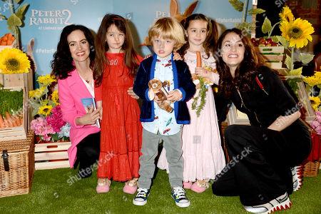 Stock Photo of Sally Wood, Alice Rose Wood, Gracie Jane Wood, Dev Jagger and Melanie Hamrick
