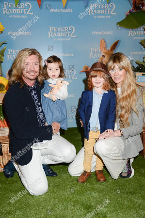 Stock Photo of Nicky Clarke and Kelly Simpkin with children Nico and Cecee