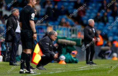 Leeds United Manager Marcelo Bielsa  during the Premier League match between Leeds United and West Bromwich Albion at Elland Road, Leeds