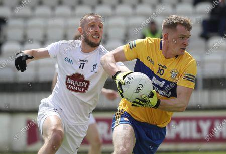 Kildare vs Clare. Kildare's Neil Flynn tackles Pearse Lillis of Clare